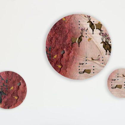 Ocean Round art set