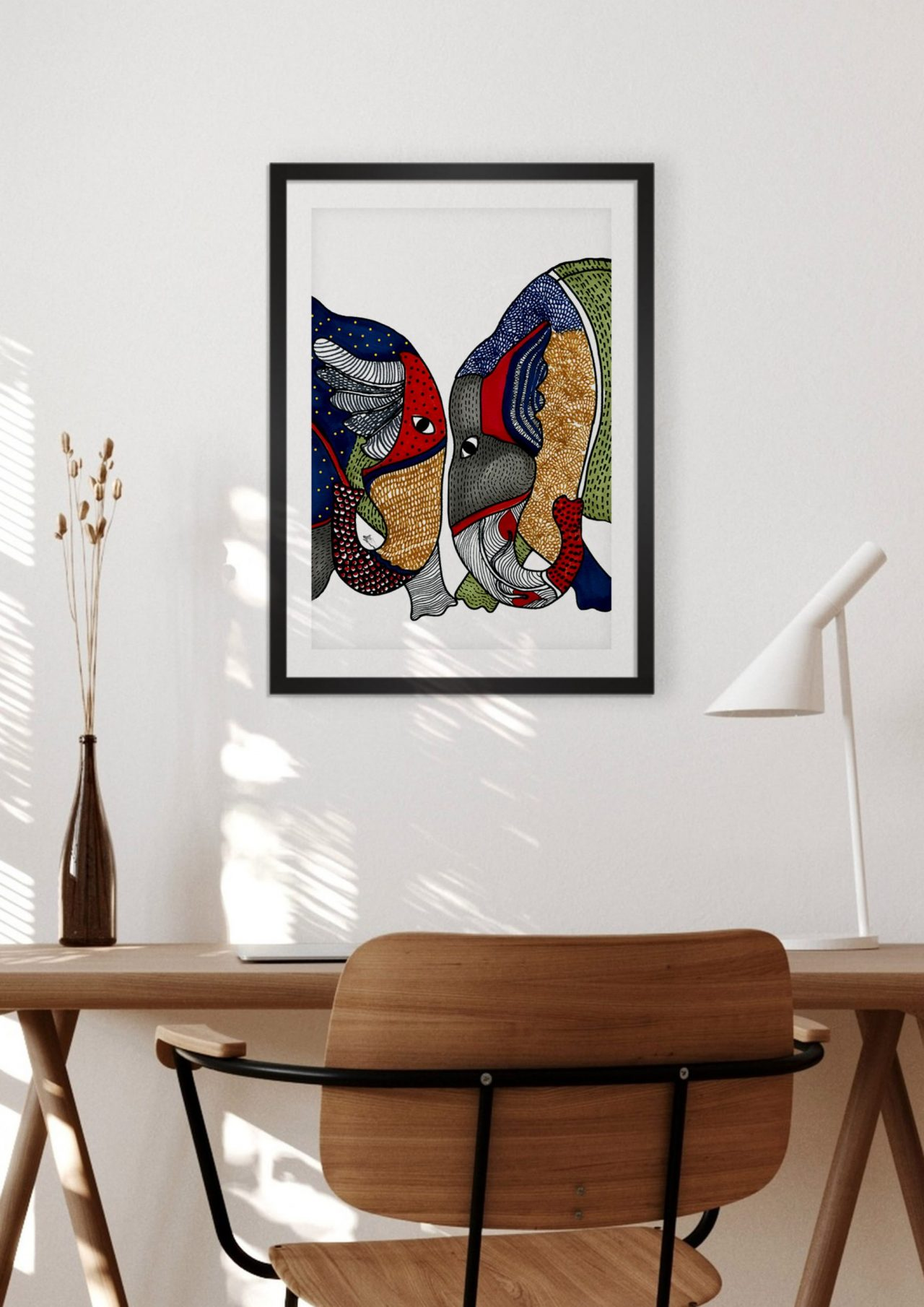 Elephant Romance Home Decor