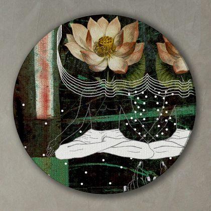 Emerald Green Round Art