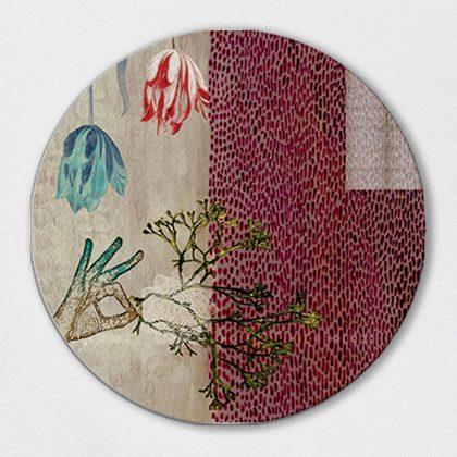 Okra Round Art