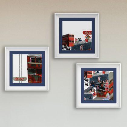 Double Decker Wall Art Set