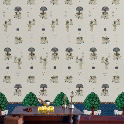 Raas White Wallpaper