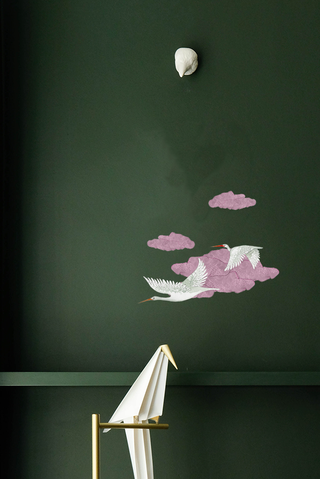 Candy Floss Clouds Easy Wall Decals