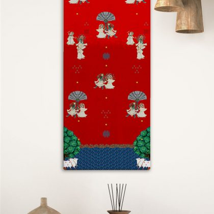 Raas Red Canvas Wall Art
