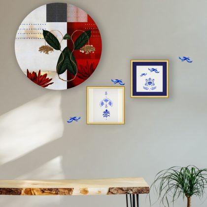 Red Indigo Wall Art Set