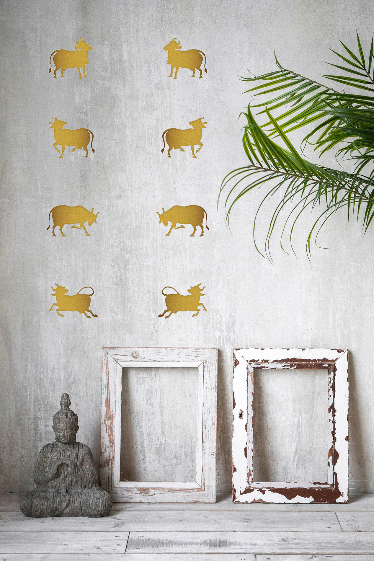 Cows Of Pichwai (Gold) Easy Decal Sets