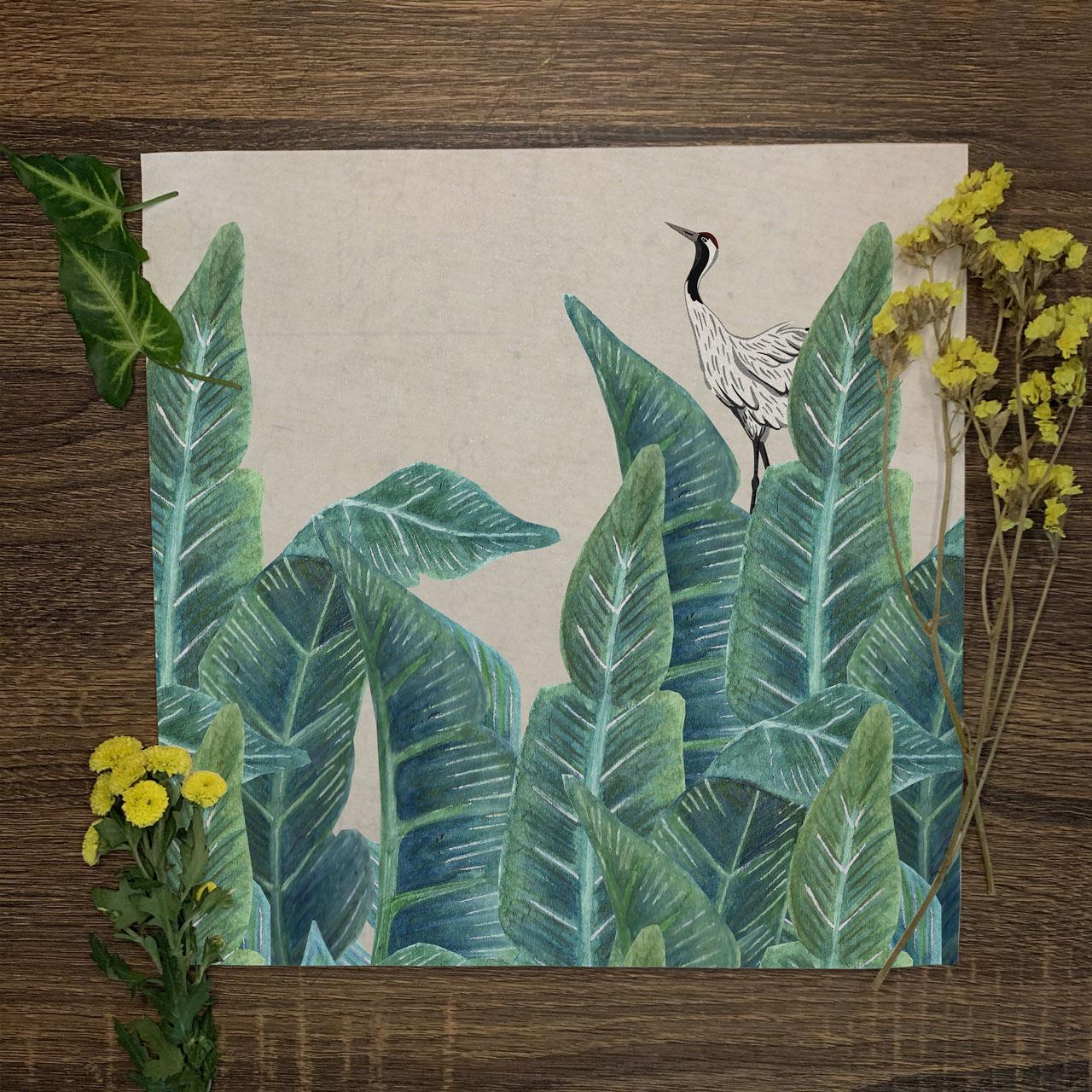 Feel of Foliage Wallpaper