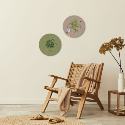 Birds of Feather Round Wall Art