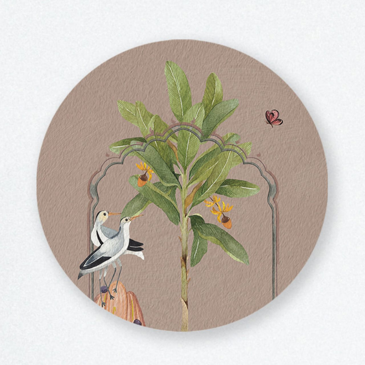 Early Bird Round Wall Art