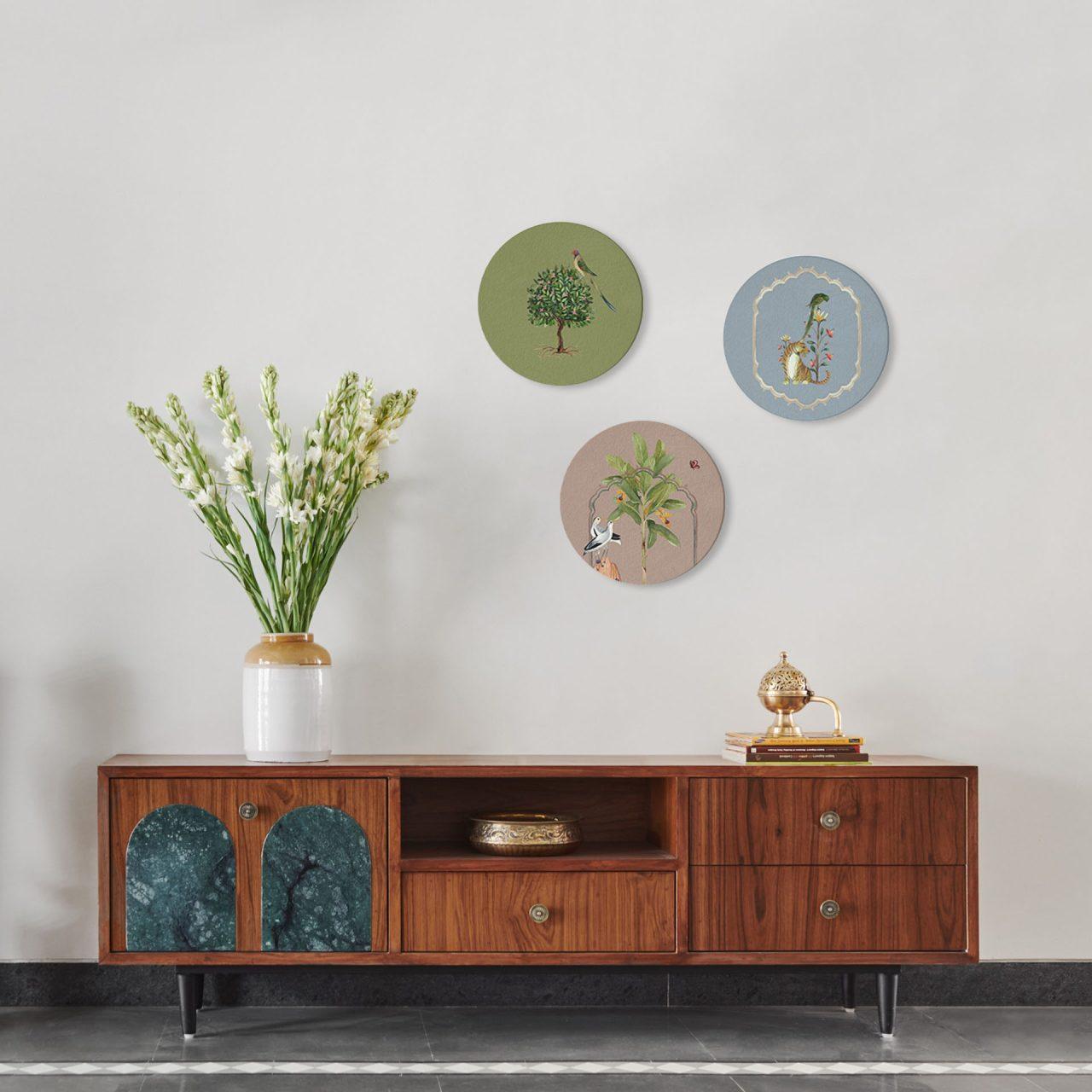Jungle Cassata Round Wall Art Set